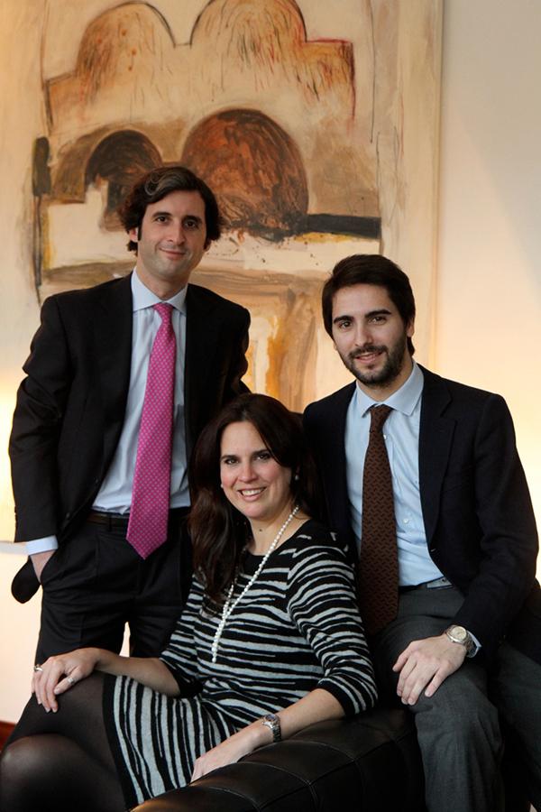 Daniel Olabarria Vaquero, Francisca Buchner, Gabriel Buades Castella (de izquierda a derecha)