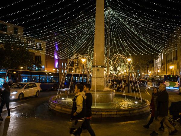 Las Ramblas de Palma estaran iluminadas hasta el 06 de enero.