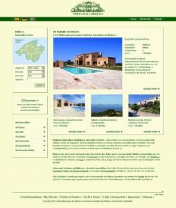 El sitio web de Porta Mallorquina hace 10 años.
