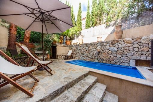 Casa en el centro histórico de Pollença con piscina y máximo confort residencial