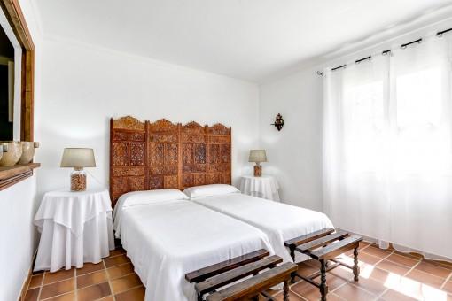 Dormitorio de huéspedes de la finca
