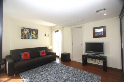Habitación des huespédes con sofa
