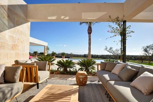 Marvillosa zona de relax en la terraza