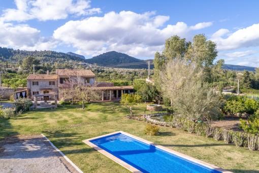 Casa de campo con encanto en Binissalem con piscina y jacuzzi exterior, lista para entrar a vivir