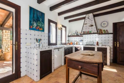 La cocina ofrece acceso al exterior