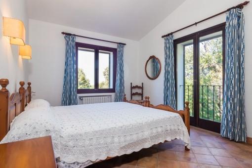 La finca ofrece 4 dormitorios dobles