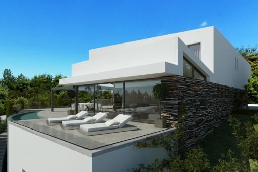 El proyecto incluye una fantástica terraza con piscina