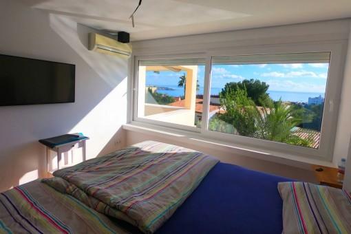 Fantásticas vistas al mar desde este dormitorio