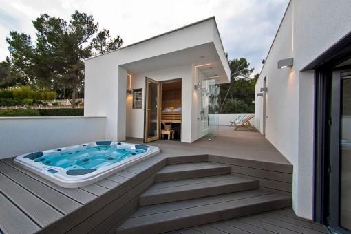 Zona spa fantástica con sauna