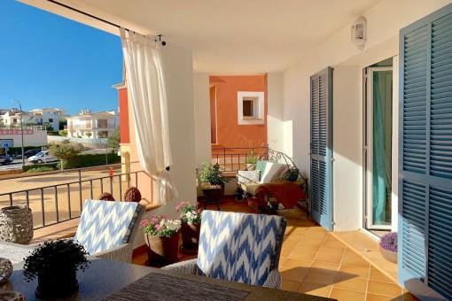 Apartamento central y elegante en el complejo residencial bien mantenido de Porto Cristo