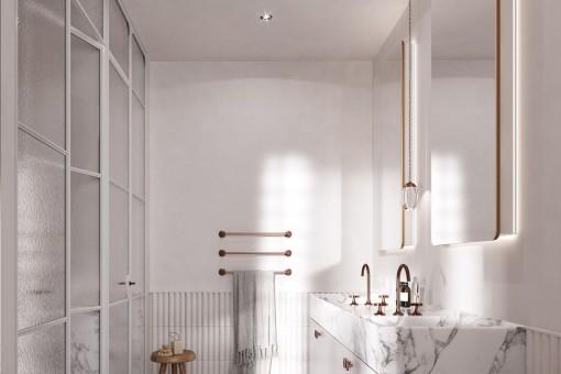 Baño noble con ducha