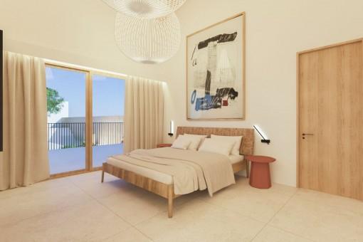 Vista alternativa al dormitorio