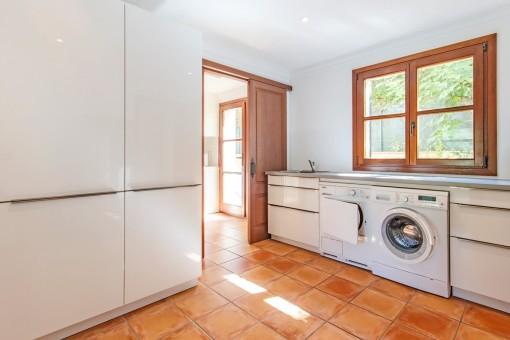 Lavadero al lado de la cocina