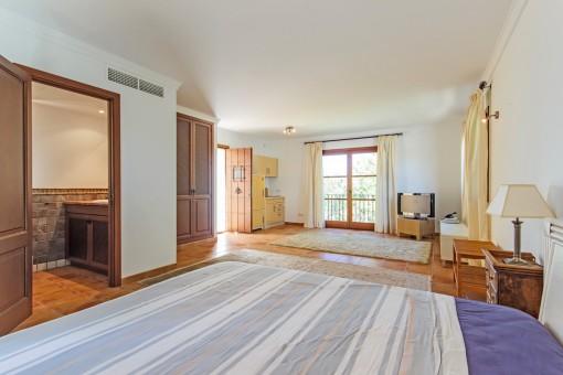 La villa es ideal para recibir muchos invitados
