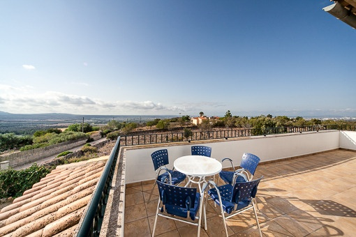 Vistas panoramicas desde la terraza superior