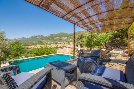 Casa de campo mallorquina de 1.000 años, completamente modernizada con piscina y vistas panorámicas