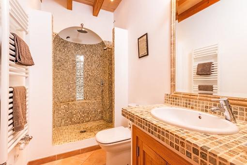 Baño elegante con ducha