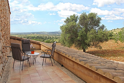 Balcón con vistas únicas al paisaje