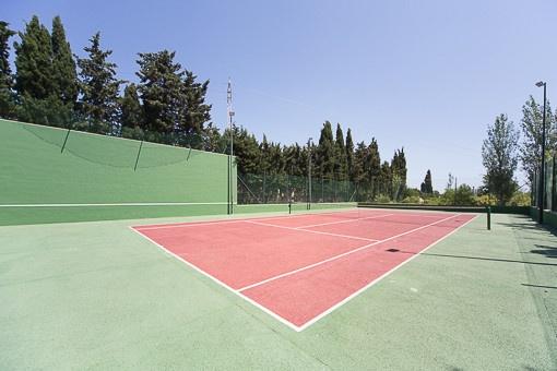 Propia pista de tenis en el solar