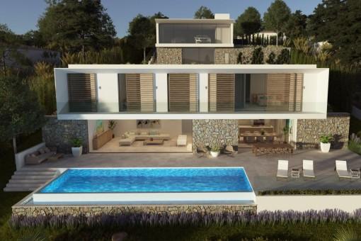 Moderna Villa De Lujo Con Vistas Al Mar En Construcci 243 N En