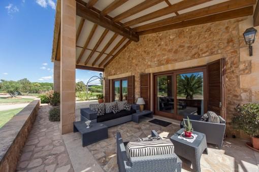 Área de estar en la terraza
