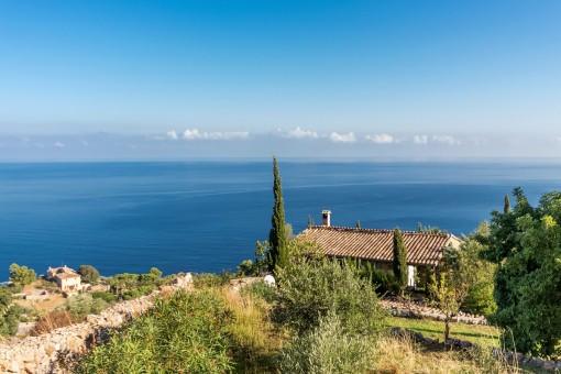 Magníficas vistas al mar desde la propriedad