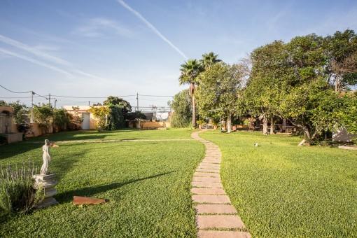 Camino lleva al jardín