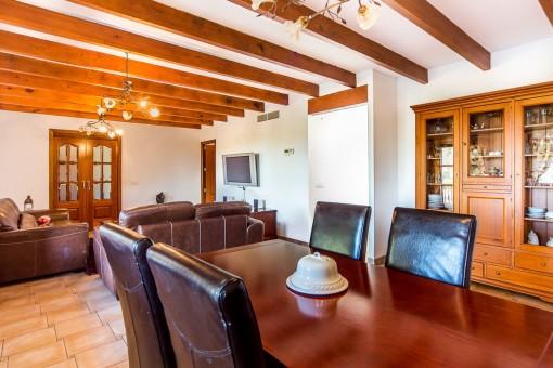 Salón y comedor abierto