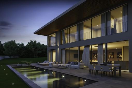 Moderna villa de lujo de arquitectura avanzada en Santa Ponsa