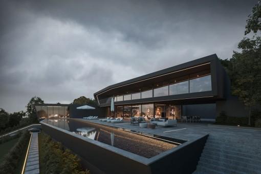 Gran terraza con piscina