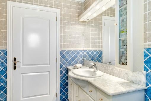 Uno de tres baños