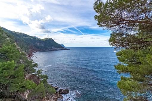 Vistas fantásticas al mar mediterráneo