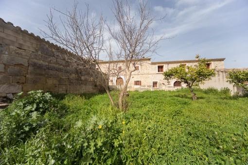 Jardín privado grande