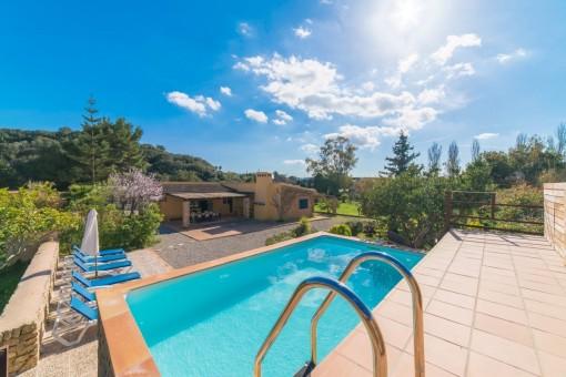Finca bonita con piscina en la orilla del pueblo de Artà
