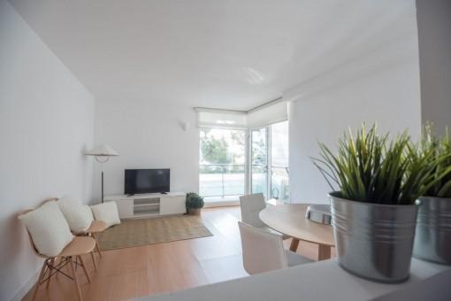 118 metros cuadrados de superficie habitable con dos balcones