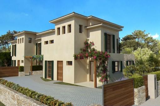 Acceso a la villa ideal para familias en Cala Bona