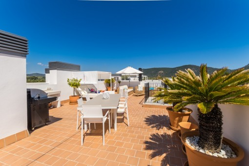 Azotea soleada con lounge