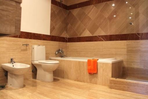 Baño moderno con bañera y ducha