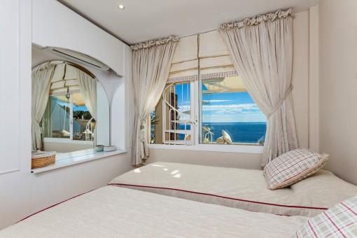 Vistas al mar mediterráneo desde el dormitorio