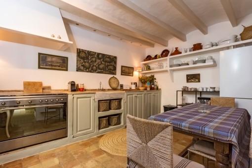 Cocina rústica de la casa