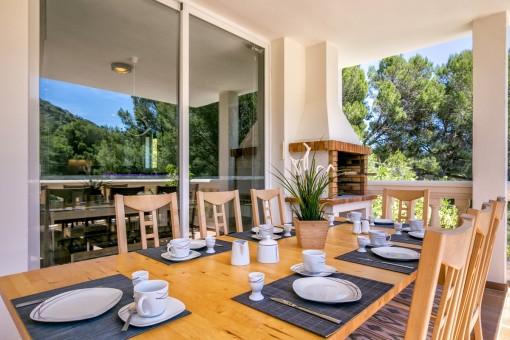 Maravillosa terraza para tomar el desayuno