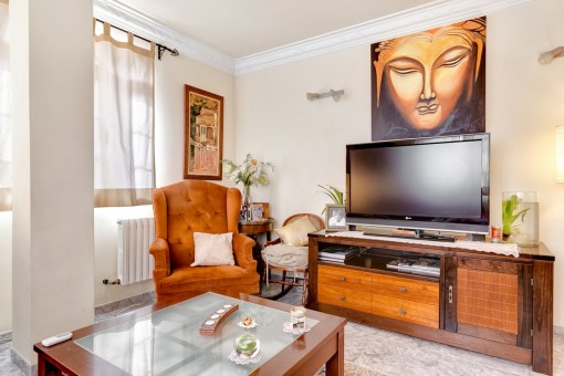 Zona de estar con televisor