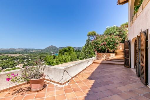Idílicas vistas panorámicas desde la terraza