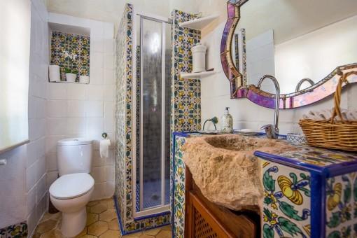 Uno de siete baños