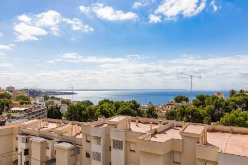 Vistas al mar hermosas desde el balcón