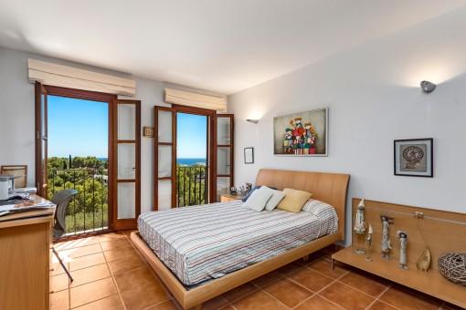 Dormitorio con vistas al mar preciosas