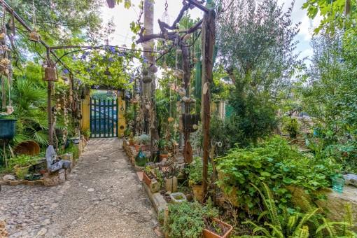 Casa especial con jardín de ensueño