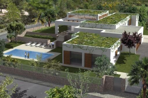 Solar fantástico con jardín grande y piscina