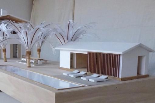 Se prevé construir una piscina de 16 m x 3 m así como un apartamento de invitados