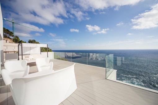 Área de estar al balcón
